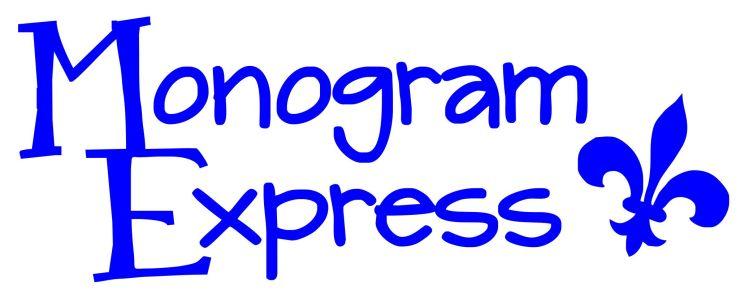 monogram express logo - blue