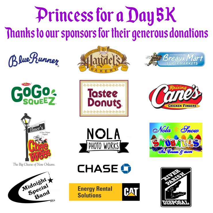 4x4 princess for a day 5k - race donation sign converted